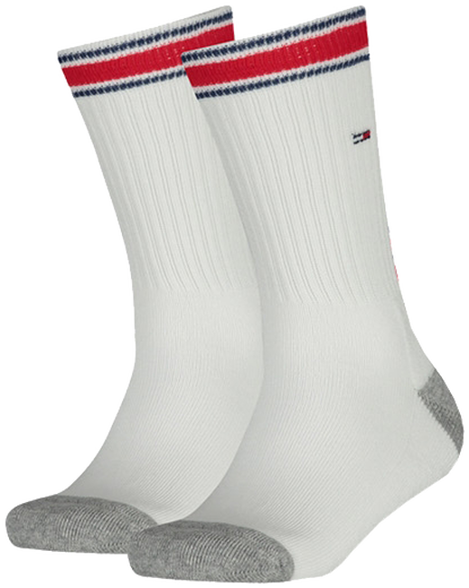 Witte TOMMY HILFIGER Sokken TH KIDS ICONIC SPORTS SOCK 2P - large