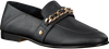 Zwarte TOMMY HILFIGER Loafers CHAIN DETAIL LOAFER  - small