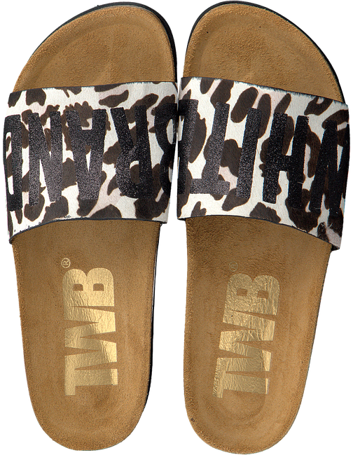 Witte THE WHITE BRAND Slippers BIO LEOPARD - large