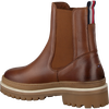 Cognac TOMMY HILFIGER Enkellaarsjes RUGGED CLASSIC BOOT  - small