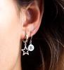 Zilveren ATLITW STUDIO Oorbellen CHARACTER EARRINGS LETTER GOLD - small