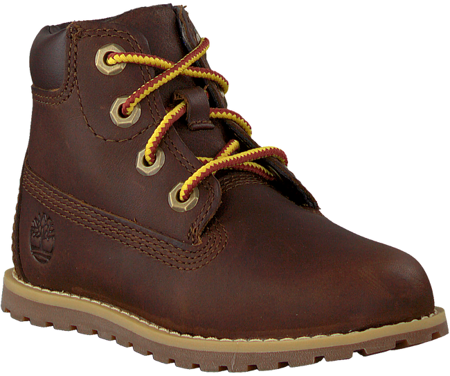 Bruine TIMBERLAND Veterboots POKEY PINE 6IN BOOT KIDS  - large
