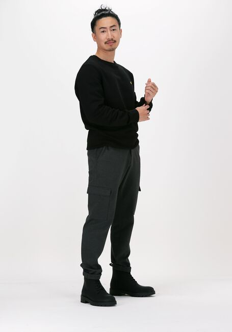 Zwarte LYLE & SCOTT Sweater CREW NECK SWEATSHIRT - large
