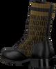 Zwarte NIK & NIK Veterboots BRANDY JACQUARD BOOTS  - small