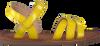 Gele APPLES & PEARS Sandalen FANNY  - small