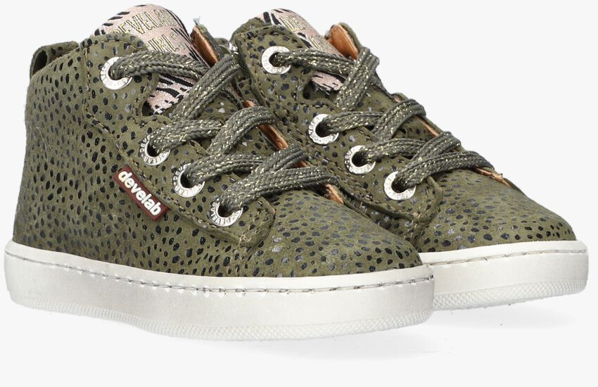 Groene DEVELAB Hoge sneaker 41602  - larger