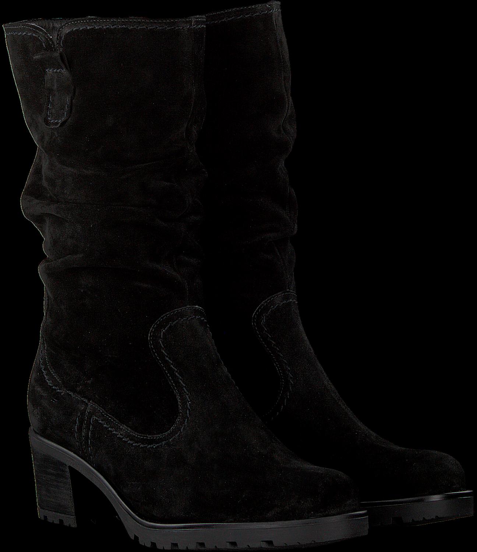 Suede zwarte laarzen plat Gabor schoenen goedkoop kopen