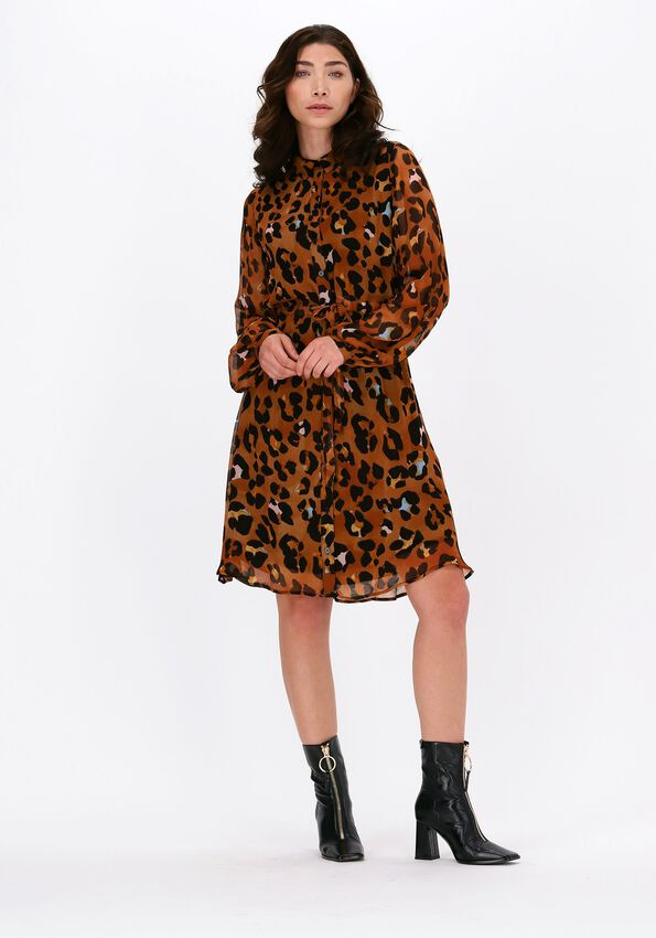 Cognac FABIENNE CHAPOT Mini jurk FRIDA CATO SHORT DRESS  - larger