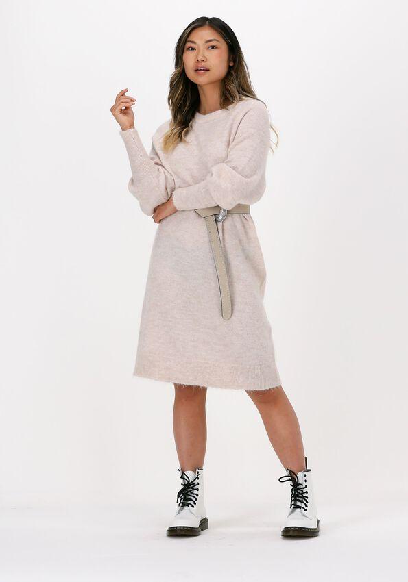 Beige SELECTED FEMME Maxi jurk SLFSELENE LS KNIT DRESS B  - larger