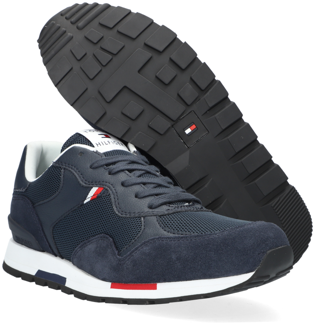 Blauwe TOMMY HILFIGER Lage sneakers RETRO RUNNER MIX  - large