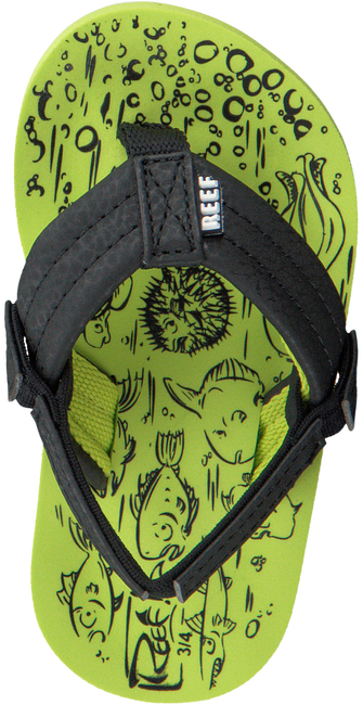 Groene REEF Slippers GROM REEF FOOTPRINTS  - large