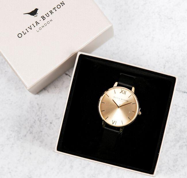 Zwarte OLIVIA BURTON Horloge BIG DIAL - large