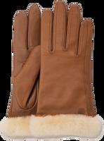 Cognac UGG Handschoenen CLASSIC LEATHER SMART GLOVE - medium