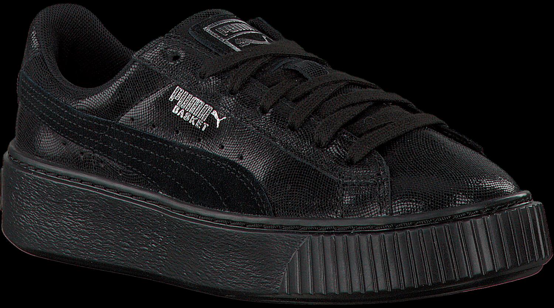 Zwarte PUMA Sneakers BASKET PLATFORM NS | Omoda