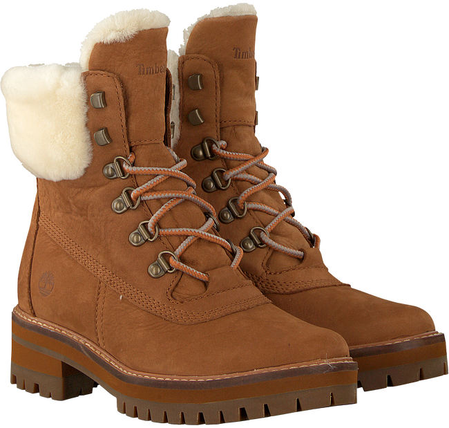 Cognac TIMBERLAND Veterboots COURMAYEUR VALLEY SHEARLING - large