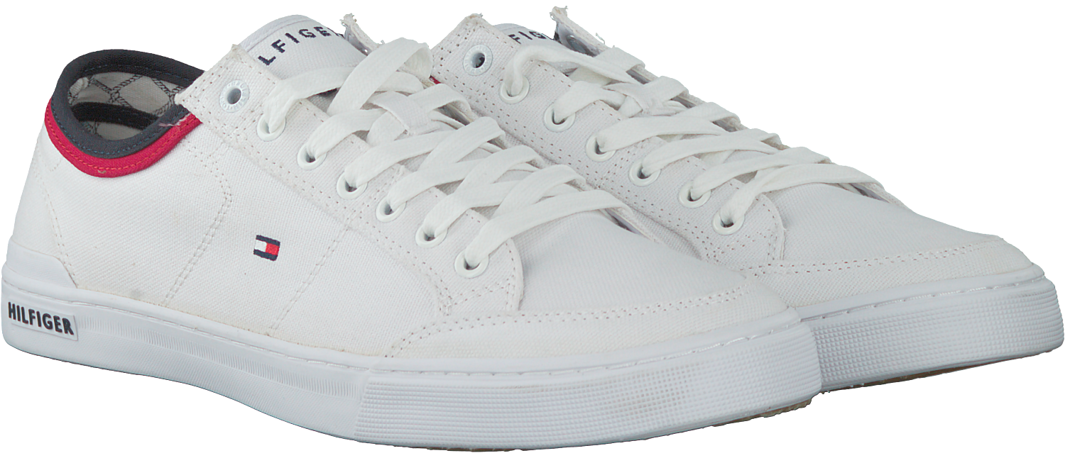 359f5ce71523a0 Witte TOMMY HILFIGER Sneakers CORE CORPORATE TEXTILE SNEAKER - Omoda.nl