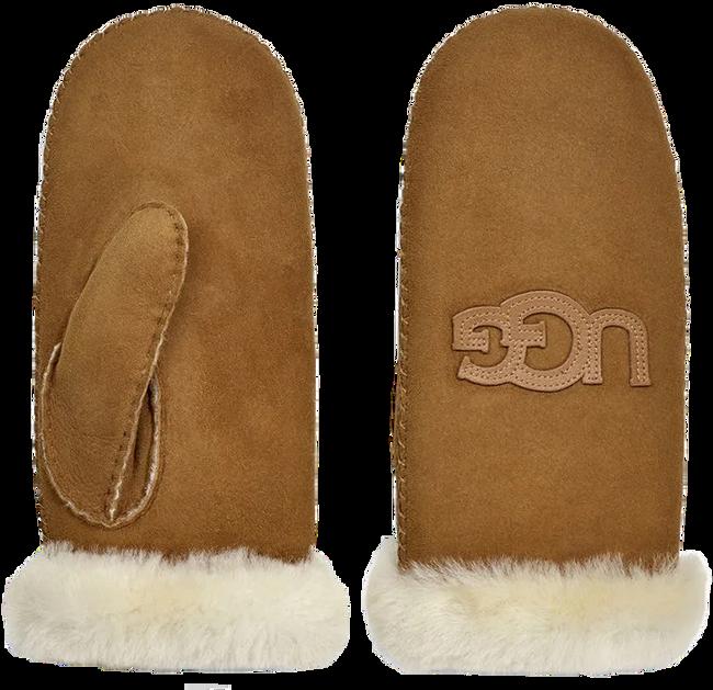 Camel UGG Handschoenen HERITAGE LOGO MITTEN - large