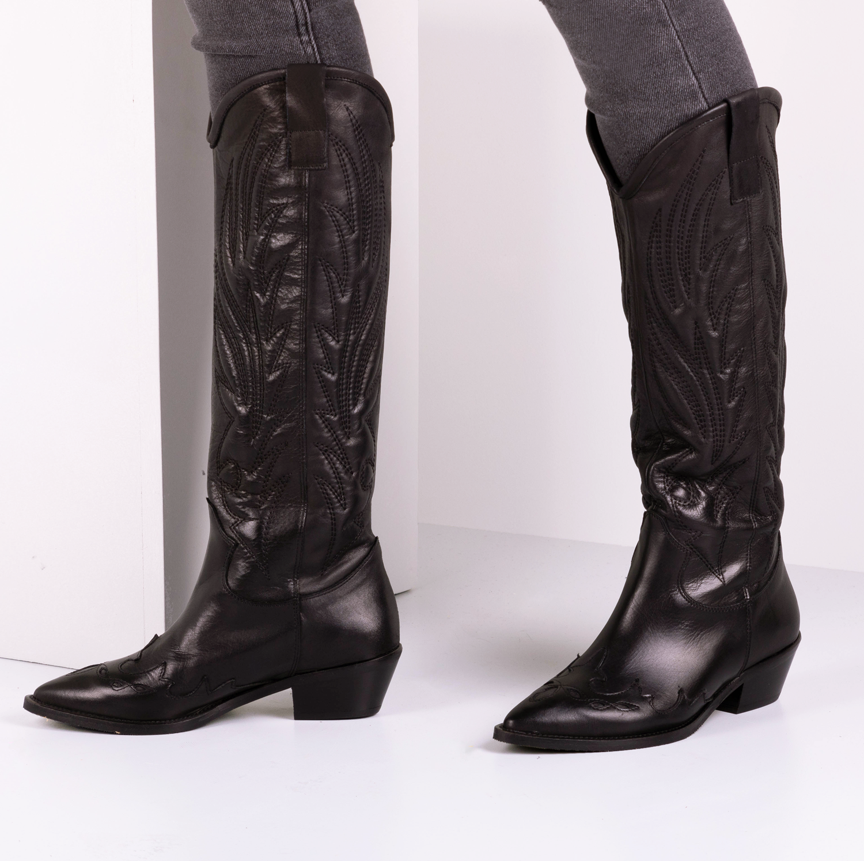 Zwarte OMODA Lange laarzen TEX503   Omoda