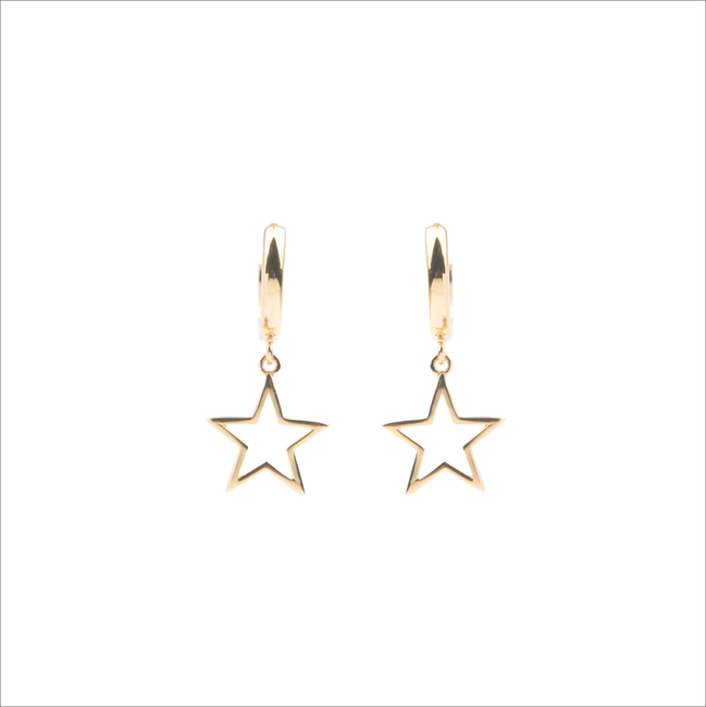 Gouden ATLITW STUDIO Oorbellen SOUVENIR EARRINGS STAR - large