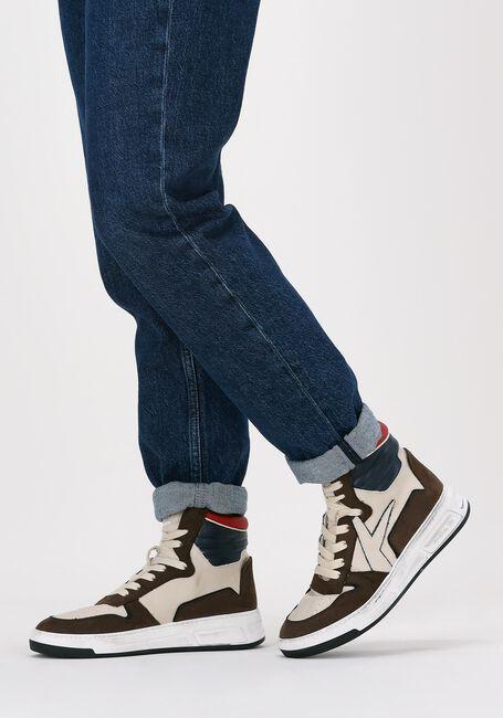 Bruine ARCHIVIO 22 Hoge sneaker 477  - large