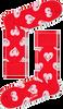 Rode HAPPY SOCKS Sokken SMILEY HEART - small