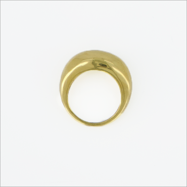Gouden NOTRE-V Ring RING ZEGEL ONE SIZE  - large