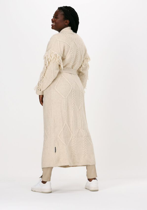 Beige SILVIAN HEACH Vest LONG CARDIGAN CLEVELAND - larger