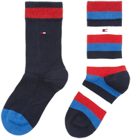 Blauwe TOMMY HILFIGER Sokken TH KIDS BASIC STRIPE SOCK 2P - medium
