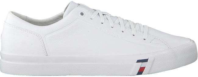 Witte TOMMY HILFIGER Sneakers CORPORATE LEATHER SNEAKER - large