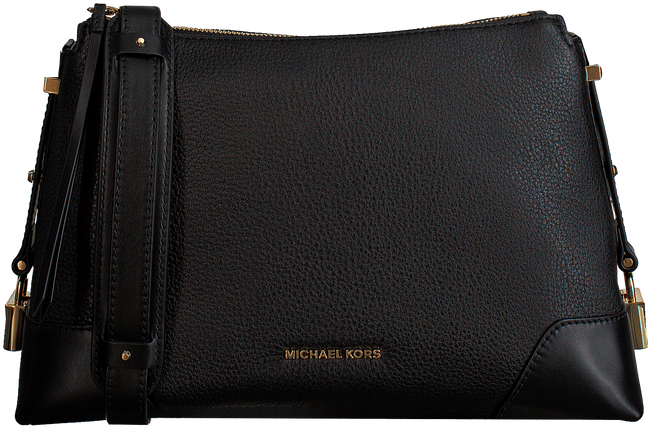 Zwarte MICHAEL KORS Schoudertas CROSBY MD MESSENGER  - large