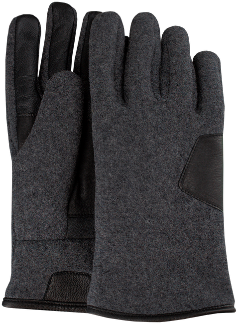 Grijze UGG Handschoenen FABRIC AND LEATHER GLOVE - large