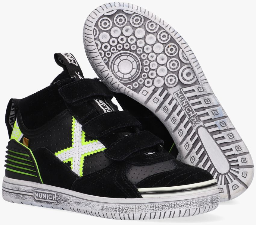 Zwarte MUNICH Hoge sneaker G3 BOOT VELCRO  - larger