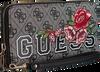 Zwarte GUESS Handtas VIKKY SLG LARGE ZIP AROUND - small
