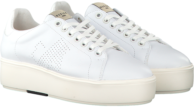 Witte NUBIKK Sneakers ELISE LACE PERFO  - large