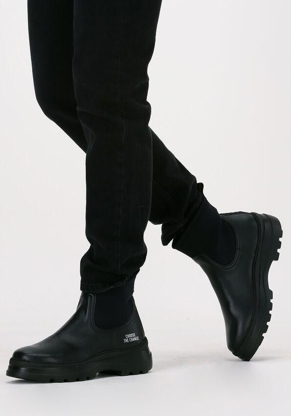 Zwarte WOMSH Chelsea boots LOOP INK  - larger