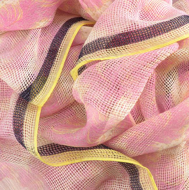 Roze BECKSONDERGAARD Sjaal FEATHER MODA SCARF  - large