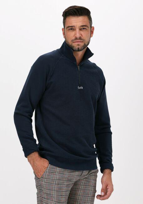 Donkerblauwe FORÉT Sweater CREEK HALF ZIP - large