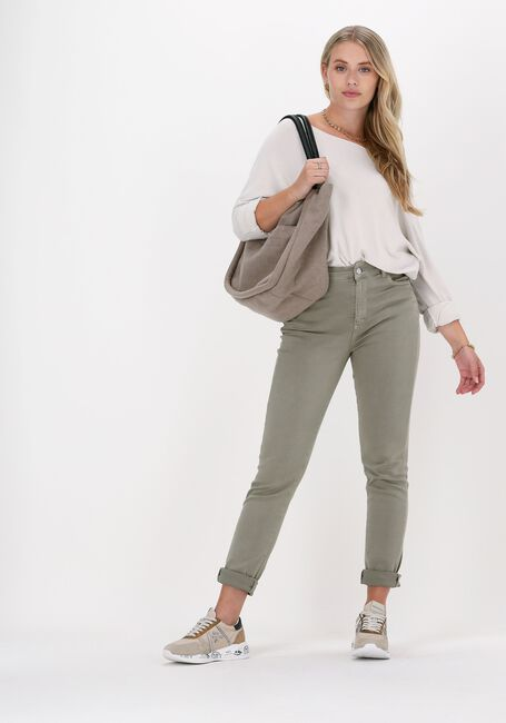 Groene SIMPLE Skinny jeans WOVEN PANTS - large