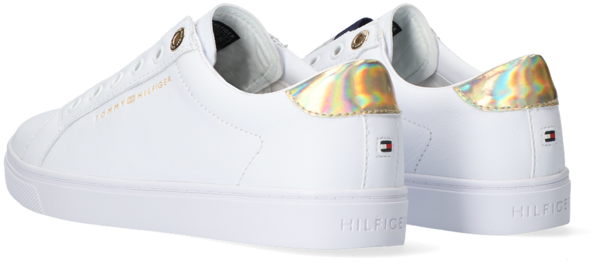 Witte TOMMY HILFIGER Lage sneakers TH ELASTIC SLIP ON  - larger