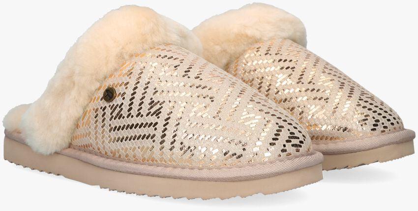 Witte WARMBAT Pantoffels COLLIE  - larger
