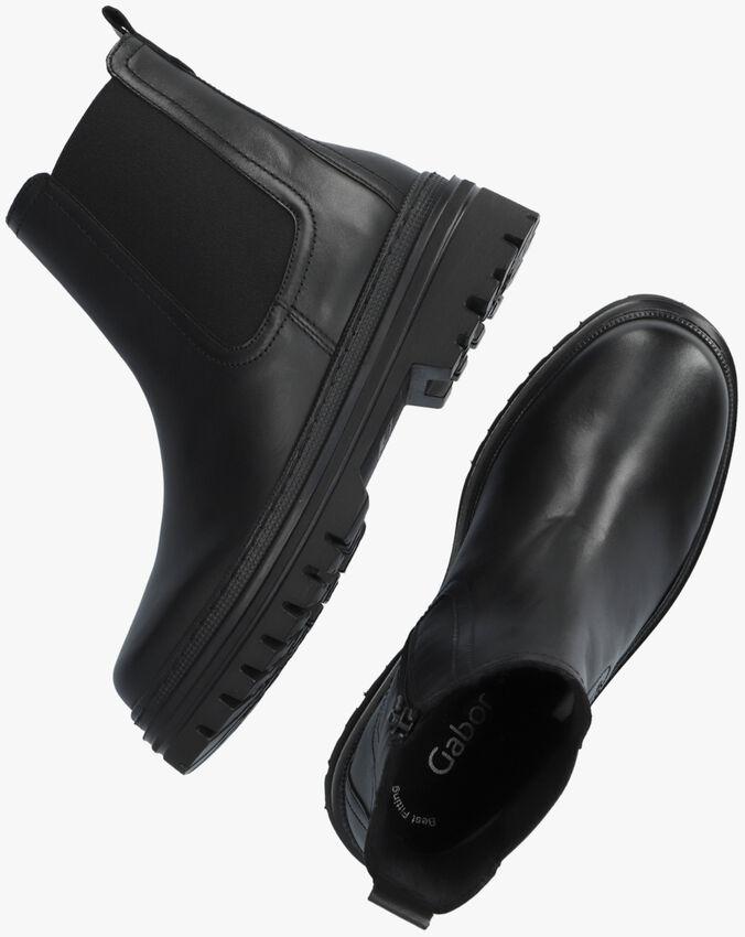Zwarte GABOR Chelsea boots 720.1  - larger