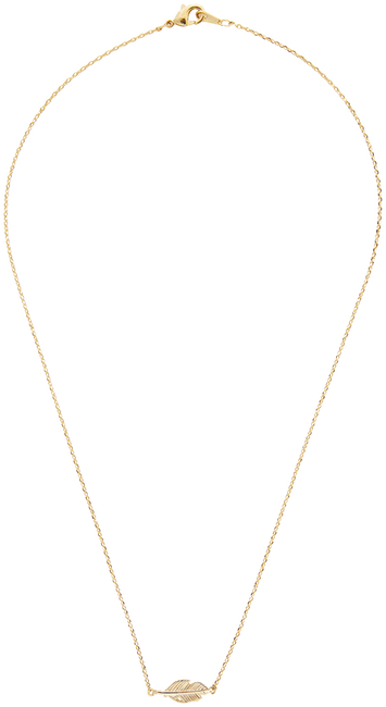 Gouden ALLTHELUCKINTHEWORLD Ketting ELEMENTS NECKLACE FEATHER - large