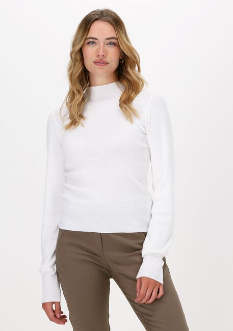 Witte NA-KD Top HIGH NECK KNITTED POLO - large