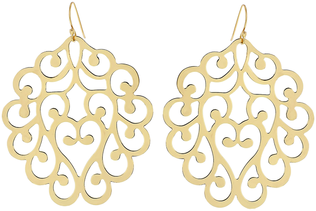 Gouden JEWELLERY BY SOPHIE Oorbellen CHANDELIERS EARRINGS - large
