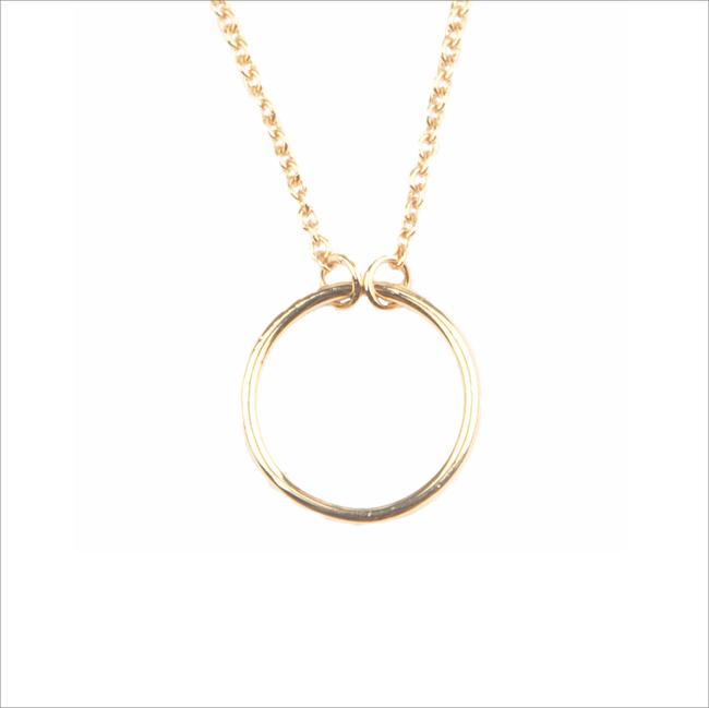 Gouden ATLITW STUDIO Ketting SOUVENIR NECKLACE CIRCLE - large