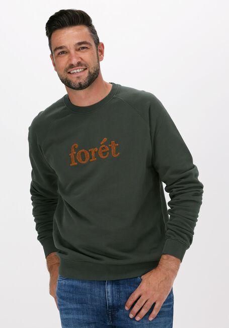 Donkergroene FORÉT Sweater SPRUCE SWEATSHIRT - large