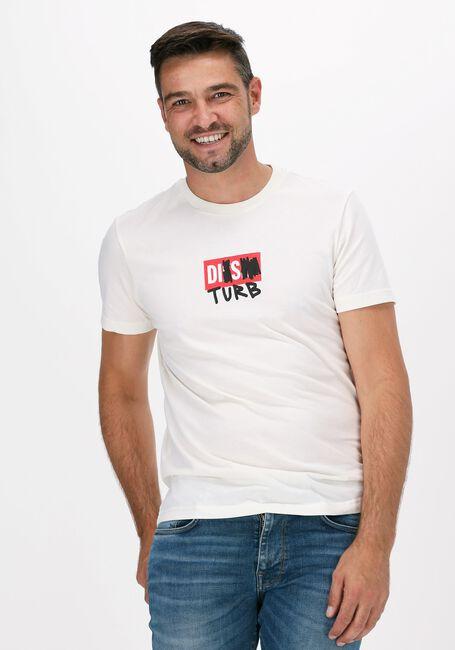 Gebroken wit DIESEL T-shirt T-DIEGOS-B10  - large