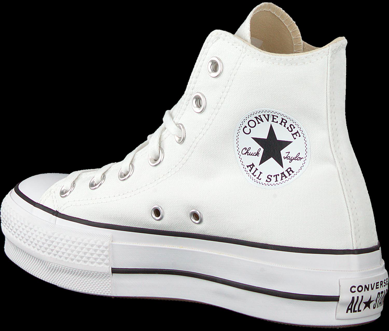 Witte CONVERSE Hoge sneaker CHUCK TAYLOR ALLSTAR LIFT HIGH ...