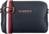 Blauwe TOMMY HILFIGER Schoudertas ICONIC TOMMY CROSSOVER  - small