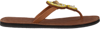 Cognac OMODA KUBUNI Slippers SLIPPER FLOWER - medium